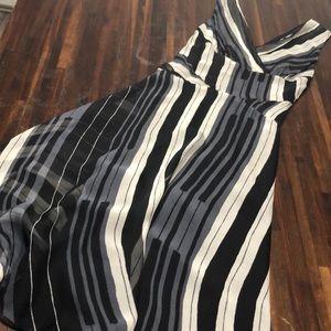 Diane Von Furstenberg Silk Striped Maxi Dress